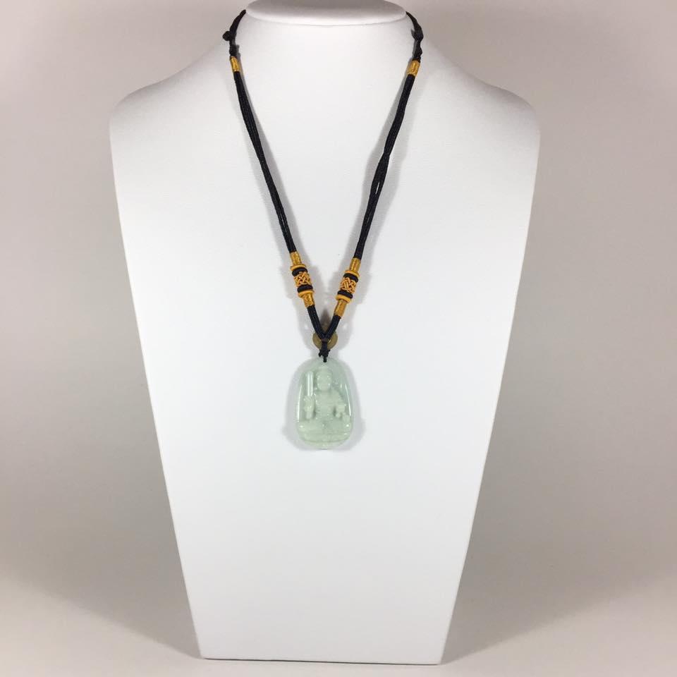 Mặt dây chuyền Bất Động Minh Vương đá cẩm thạch – hàng loại A