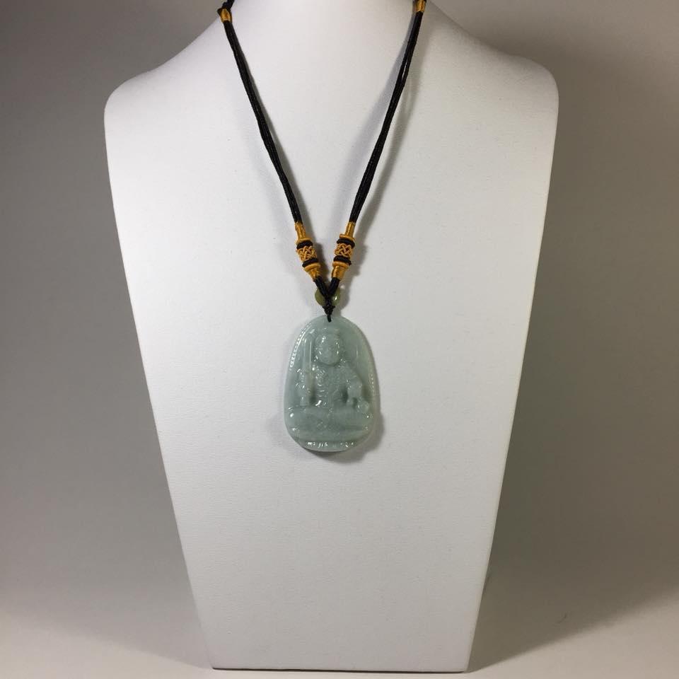Mặt dây chuyền Bất Động Minh Vương đá cẩm thạch loại LỚN – A