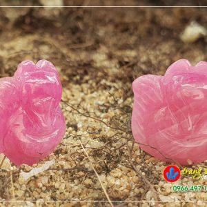 đá hồ ly ruby hồng